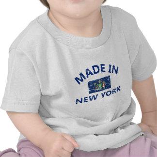 Gemaakt in het design van de Vlag van New York T Shirts