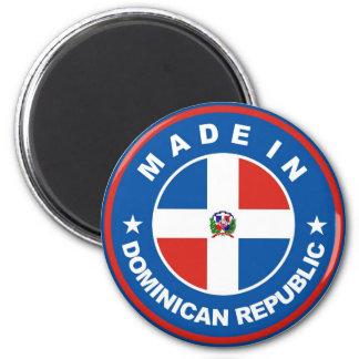 gemaakt in het etiket van de Dominicaanse republie Ronde Magneet 5,7 Cm