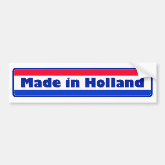 Gemaakt in Holland Bumpersticker