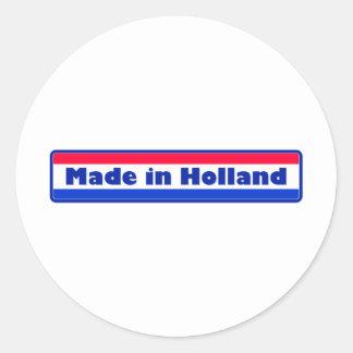 Gemaakt in Holland Ronde Sticker