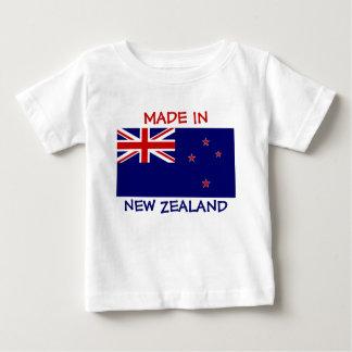 Gemaakt in Nieuw Zeeland met de Vlag van Nieuw Baby T Shirts