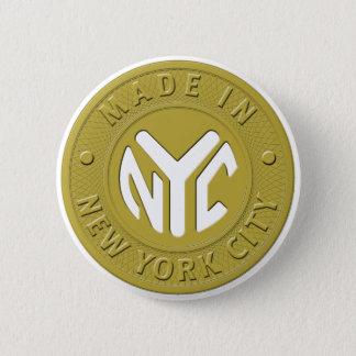 GEMAAKT IN Speld NYC Ronde Button 5,7 Cm