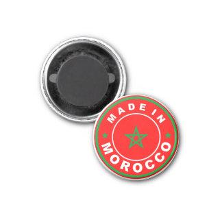 gemaakt in van de het landvlag van Marokko de rond Magneet