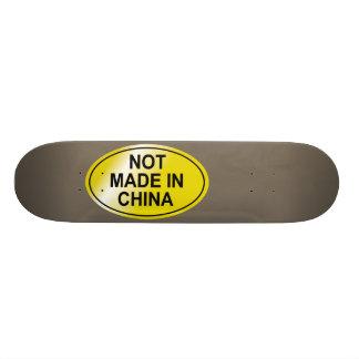 Gemaakt niet in het Skateboard van China