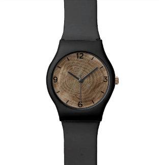 Gemaakt van hout horloge