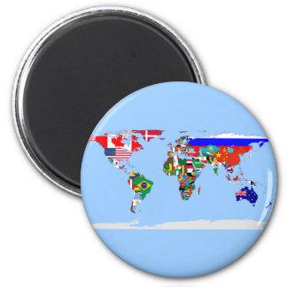 gemarkeerde wereld koelkast magneet