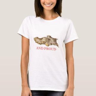 Gember en trotse vintage illustratiet-shirt t shirt