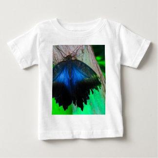 Gemeenschappelijke blauwe vlinder baby t shirts