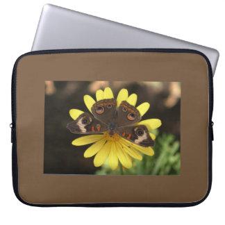 Gemeenschappelijke Vlinder Buckeye op een Computer Sleeve