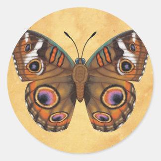 Gemeenschappelijke Vlinder Buckeye Ronde Sticker