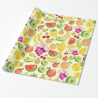 Gemengd fruit verpakkend document inpakpapier