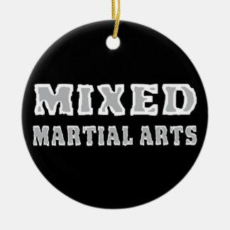 Gemengde Vechtsporten Rond Keramisch Ornament