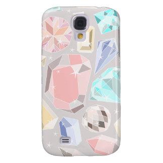 Gemmen Aqua van het Patroon van de Diamant van de  Galaxy S4 Hoesje