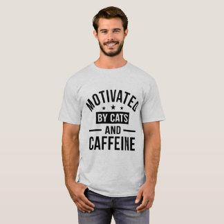 Gemotiveerd door Katten en Cafeïne T Shirt