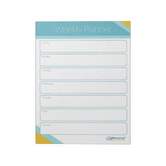 Gemotiveerde Wekelijkse Ontwerper Mompreneur Notitieblok