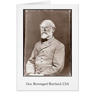 Gen. Bureaugard Burchard, CSA Kaart