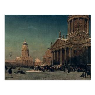 Gendarmenmarkt in de Winter, 1857 Briefkaart
