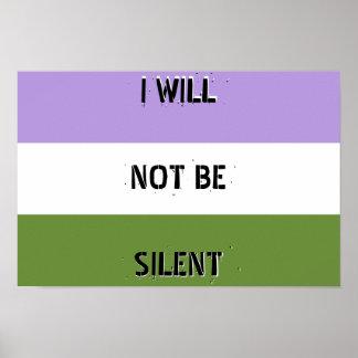 """Genderqueer """"ik zal geen Stil"""" Poster zijn"""