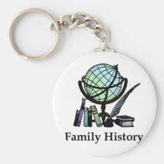 Genealogie Basic Ronde Button Sleutelhanger