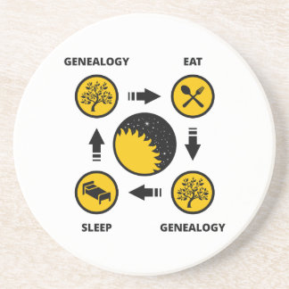 Genealogie. Eet. Genealogie. Slaap Onderzetter Voor Drinken