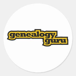 Genealogie Guru Ronde Stickers