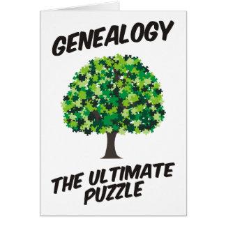 Genealogie - het Uiteindelijke Raadsel Wenskaarten