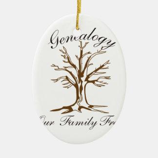 Genealogie Keramisch Ovaal Ornament