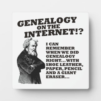 Genealogie op Internet? Fotoplaat