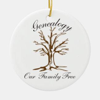 Genealogie Rond Keramisch Ornament
