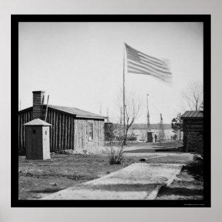 General Ulysses S. Grant's Hoofdkwartier 1864 Poster