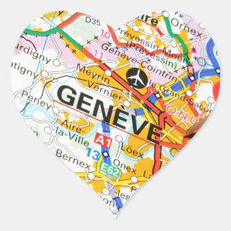 Geneve, Genève, Zwitserland Hart Sticker