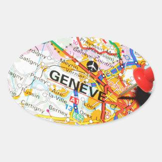 Geneve, Genève, Zwitserland Ovale Sticker