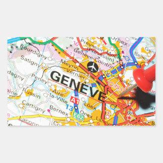 Geneve, Genève, Zwitserland Rechthoekige Sticker
