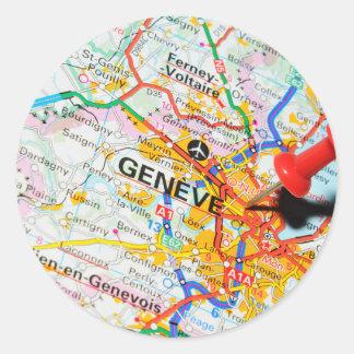 Geneve, Genève, Zwitserland Ronde Sticker