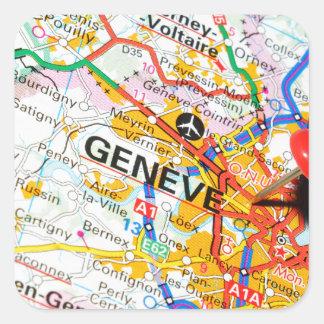 Geneve, Genève, Zwitserland Vierkante Sticker