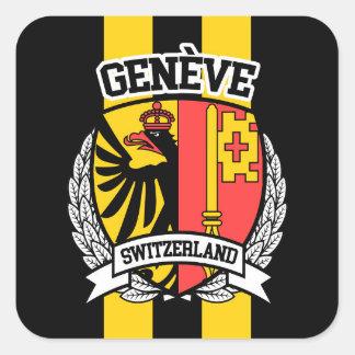 Genève Vierkante Sticker