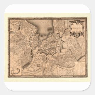 Genève Zwitserland 1773 Vierkante Sticker