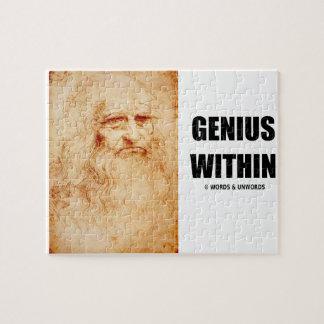 Genie binnen (het zelf-Portret van Leonardo da Vin Legpuzzel