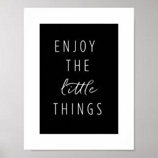 Geniet van de Kleine Dingen Poster
