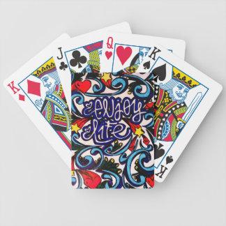 Geniet van het leven poker kaarten