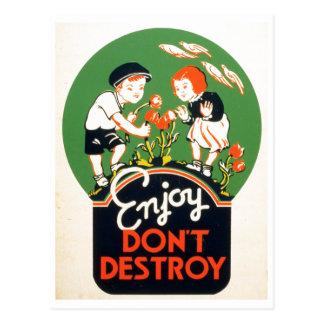 Geniet van vernietigen niet - ga Groene Aarde! Briefkaart