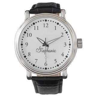 Genoemde & Gekleurde Gezicht Gepersonaliseerde Horloge