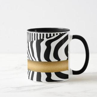 Genoemde Zebra en Strepen Mok