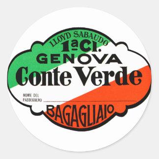 GenovaConteVerde Ronde Sticker