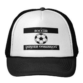 geobsedeerd met voetbal pet