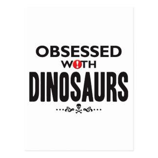 Geobsedeerde dinosaurussen briefkaart