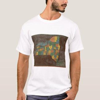 Geografische Analyse van de Staat van New York T Shirt