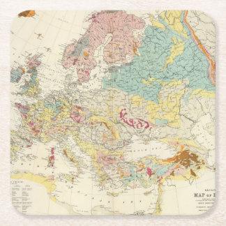 Geologische kaart Europa Vierkante Onderzetter