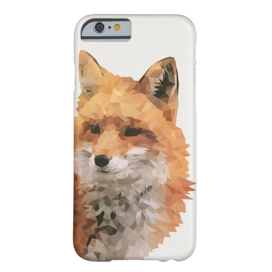 Geometric Fox Barely There iPhone 6 Hoesje