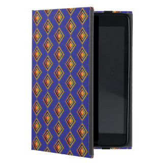 Geometrisch Blauw Patroon en het Gouden Hoesje van iPad Mini Cases
